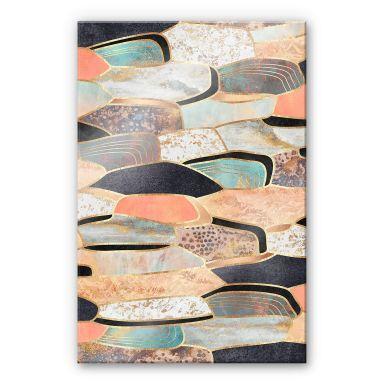 Acrylglasbild Fredriksson - Goldene Steine