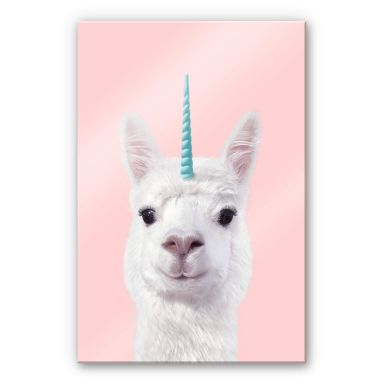 Acrylic Print Fuentes - Alpaca Unicorn