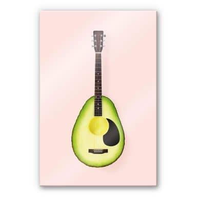 Acrylglasbild Fuentes - Avocado Gitarre