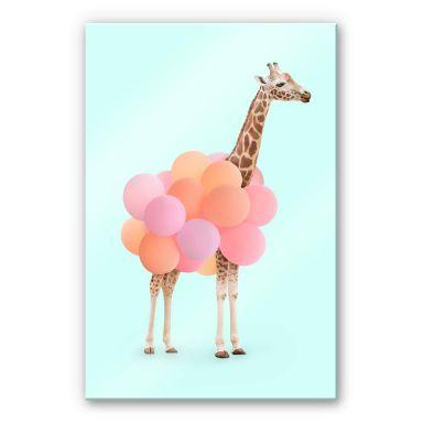 Acrylic Print Fuentes - Giraffe with Balloons