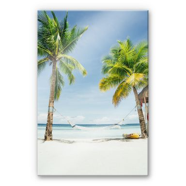 Acrylglasbild Hammock in Paradise