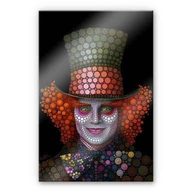 Plexiglas Ben Heine - Circlism: Johnny Depp