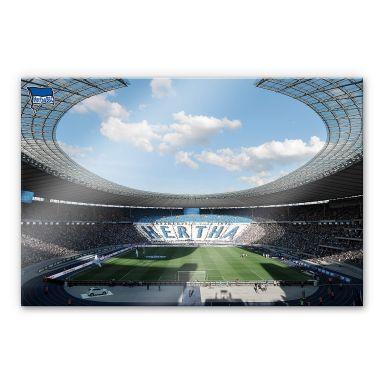 Acrylglasbild Hertha BSC - Stadion am Tag