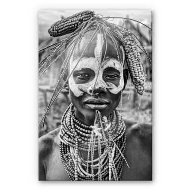 Acrylglasbild Kuesta - Porträt eines äthiopischen Stammes