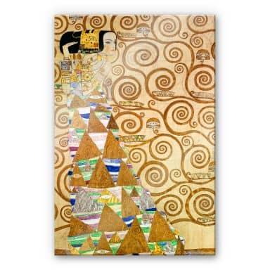 Acrylglasbild Klimt - Die Erwartung