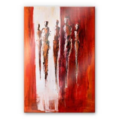 Acrylic glass Schüßler - Five figures in Red
