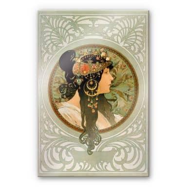 Acrylic glass Mucha - The Brunette
