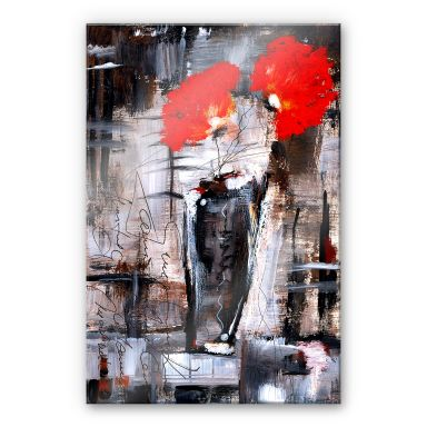 Acrylglasbild Niksic - Leuchtend Rot