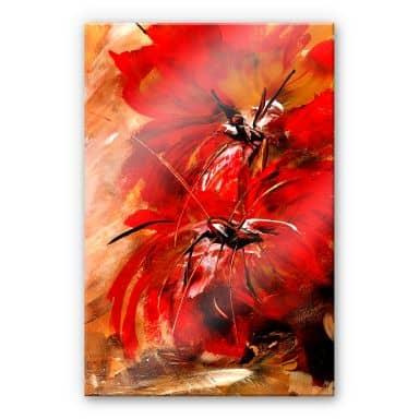 Acrylglasbild Niksic - Feuerblumen