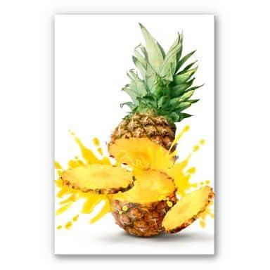 Acrylglasbild Splashing Pineapple