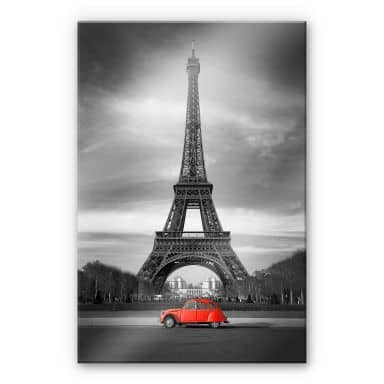 Acrylic glass La Vie est Belle - red