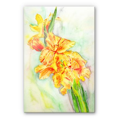 Acrylglasbild Toetzke - Gladiolen Bouquet in Gelb