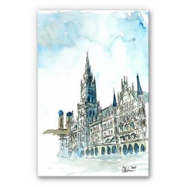 Acrylglasbild Bleichner - Münchener Rathaus