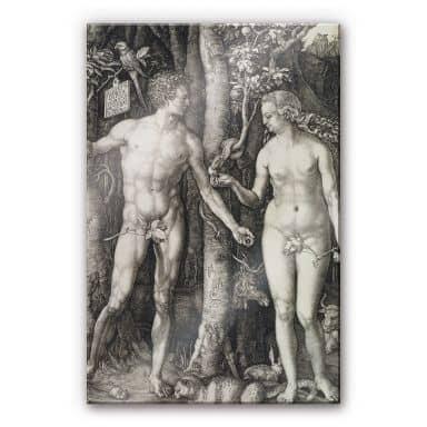 Acrylglasbild Dürer - Adam und Eva