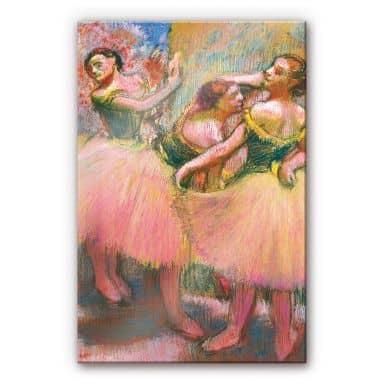 Acrylglasbild Degas - Drei Tänzerinnen mit grüne