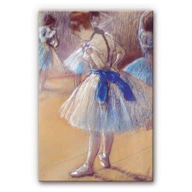 Acrylglasbild Degas - Tänzerin beim Binden der Sc