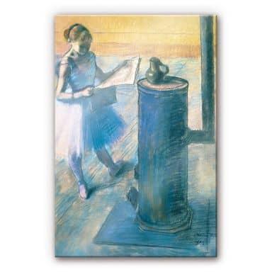 Acrylglasbild Degas - Zeitunglesende Tänzerin