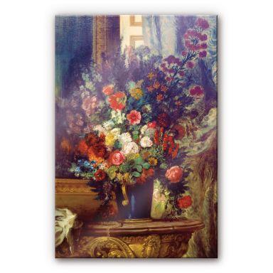 Acrylglasbild Delacroix - Vase mit Blumen auf eine