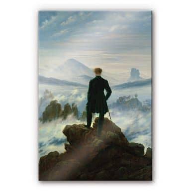 Acrylglasbild Friedrich - Der Wanderer über dem N