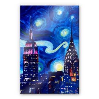 Acrylglasbild Bleichner - New York bei Nacht