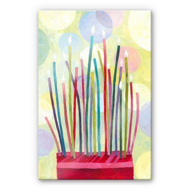 Acrylglasbild Blanz - Geburtstagskerzen