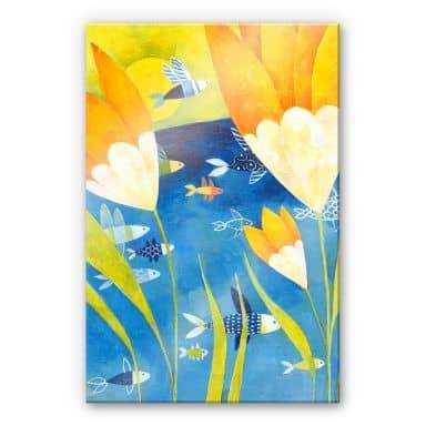 Acrylglasbild Blanz - Gelbe Tulpen