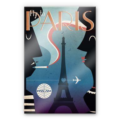 Acrylglasbild PAN AM - Fly to Paris