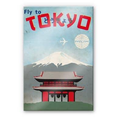 Acrylglasbild PAN AM - Fly to Tokyo