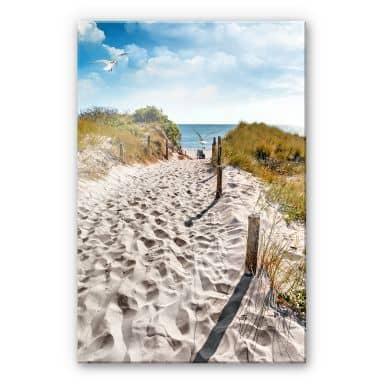 Acrylglasbild Way to the Beach