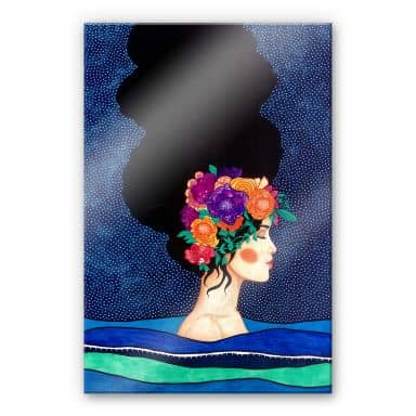 Acrylglasbild Hülya - Körper und Geist