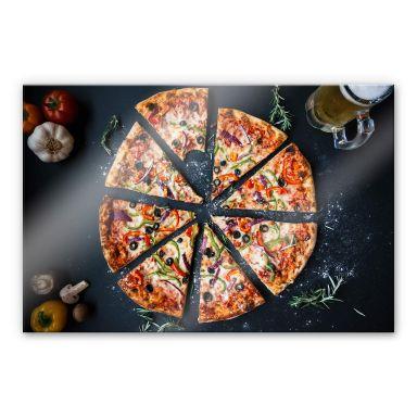 Acrylglasbild Italienische Pizza
