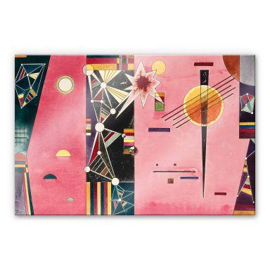 Acrylglasbild Kandinsky - Rosa Rot