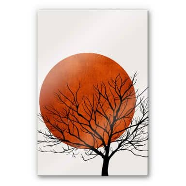 Acrylic Print Kubistika - Warm Sunset