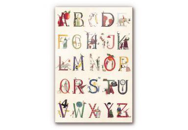 Acrylglasbild Leffler - Das Alphabet