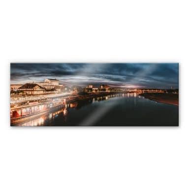 Acrylglasbild Lichterfahrt in Dresden