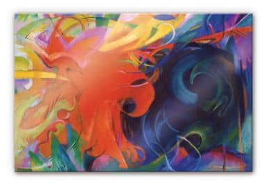 Acrylglasbild Marc - Kämpfende Formen