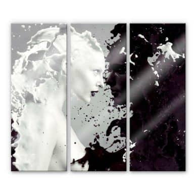 Tableau en verre acrylique - Milk& Coffee (3 parties)