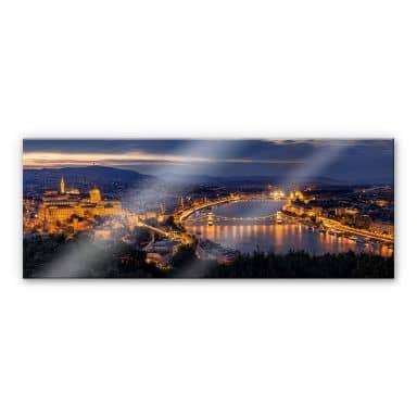 Acrylglasbild Mørkeberg - Budapest