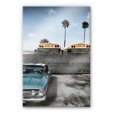 Acrylglasbild Ochlich - Retro school bus