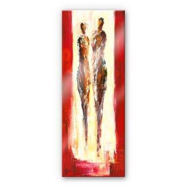 Acrylglasbild Schüßler - Paar in Rot - Panorama