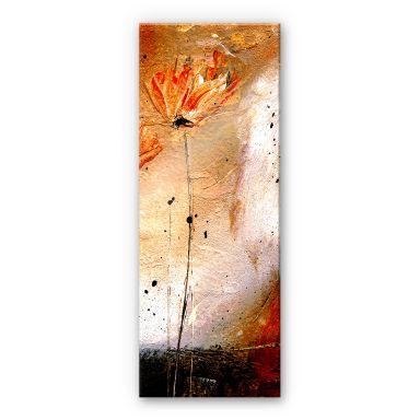 Tableau en verre acrylique - Niksic - Fleur - Panorama