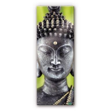 Acrylglasbild Green Buddha - Panorama