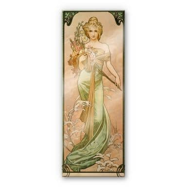 Acrylic glass Mucha - Seasons: The Spring