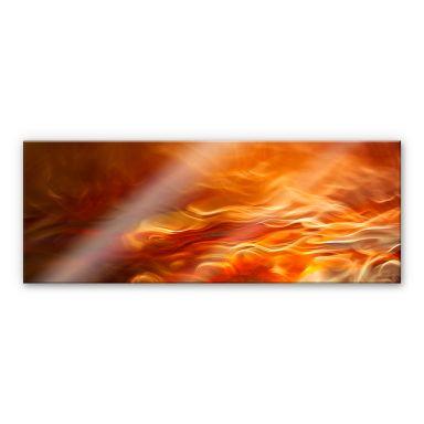 Acrylglasbild Marthinussen - Burning Water - Panorama