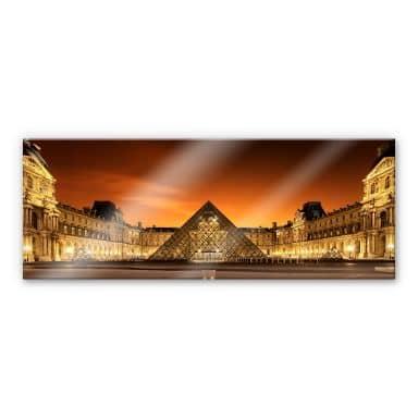 Acrylglasbild Kiciak - Illuminated Louvre