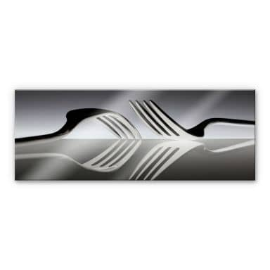 Acrylglasbild De Kogel - Silverware Reflection - P