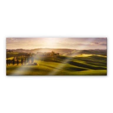 Acrylglasbild de la Torre - Toskana - Panorama