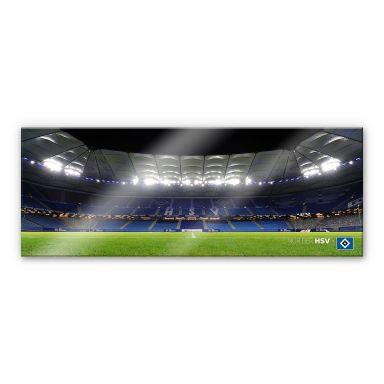 Acrylglasbild HSV Arena Nacht - Panorama