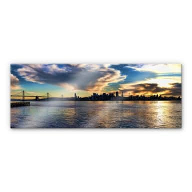 Acrylglasbild San Francisco Skyline - Panorama