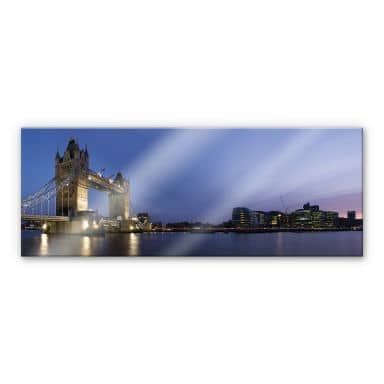 Acrylglasbild Tower Bridge an der Themse - Panorama